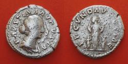 Ancient Coins - Faustina Junior (Augusta, 147-175). AR Denarius, Rome