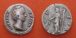 Ancient Coins - Diva faustina (died 140/1)Denarius .Rome-