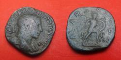 Ancient Coins - Severus Alexander (222-235) Rome, sestercius.