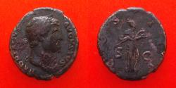 Ancient Coins - Hadrian AD 117-118. AS Rome. AD 125-128, as