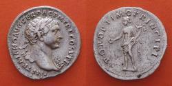 Ancient Coins -  Trajan.AD 98-117. AR Denarius. Rome  R!