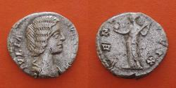 Ancient Coins - Julia Domna, wife of Septimius Severus. Rome. Denarius AR