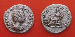 Ancient Coins - Julia Soaemias (Augusta, 218-222). Denarius. Rome.