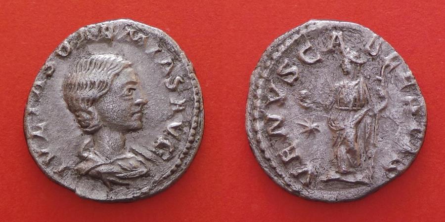 Ancient Coins - JULIA SOAEMIAS DENARIUS ( † 222 ) ROME