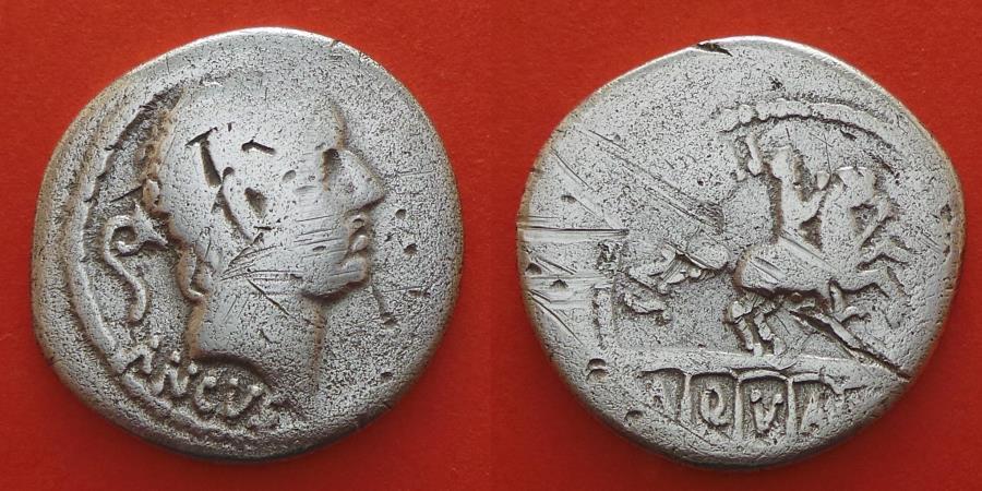 Ancient Coins - L. Marcus Philippus, 56 BC, AR Denarius, Rome