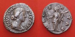 Ancient Coins - Faustina II (147-176). Denarius. Rome.