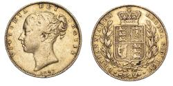 World Coins - Great Britain Victoria 1842 Gold Sovereign Shield - Open 2 About fine