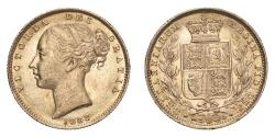 World Coins - Australia  Victoria 1883 S Gold Sovereign Shield About extremely fine