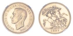 World Coins - Great Britain George VI 1937 Gold Sovereign Proof NGC PF63 #3925701-112