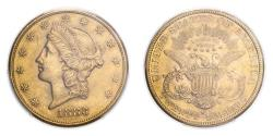 Us Coins - United States Liberty Head 1883-S Gold 20 Dollars PCGS AU58