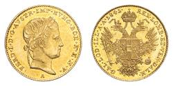 World Coins - Austria Ferdinand I 1841-A Gold Ducat Extremely fine
