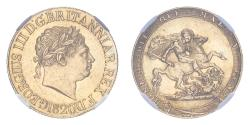 World Coins - Great Britain George III 1820 Gold Sovereign NGC MS61 #4377379-009
