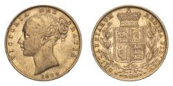 World Coins - Australia  Victoria 1880 S Gold Sovereign Inverted A in VICTORIA About very fine