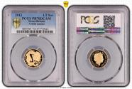 World Coins - Great Britain Elizabeth II 2012 Gold Half-Sovereign Proof PCGS PR70 DCAM #37252841