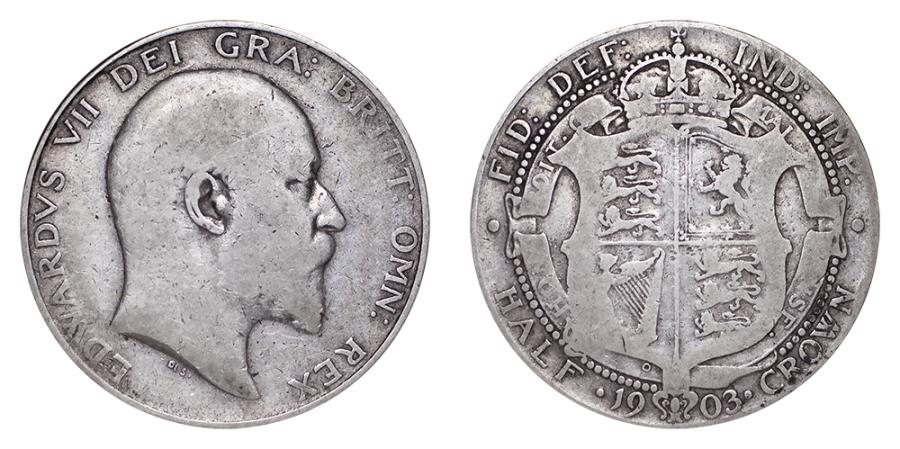 World Coins - Great Britain Edward VII 1903 Half-Crown F