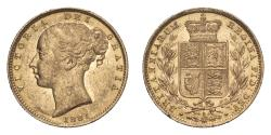 World Coins - Australia  Victoria 1881 S Gold Sovereign Shield Good very fine