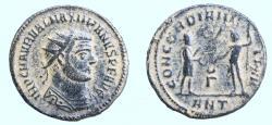 Ancient Coins - Maximianus Herculius AD 286-305. Antioch Follis Æ 19mm., 2,78g.