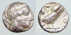Ancient Coins - Attica Tetradrachm Athens AR Circa 479-450 BC