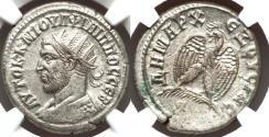 Ancient Coins - SYRIA. Antioch. Philip I (AD 244-249). BI tetradrachm. NGC AU