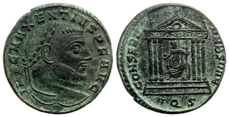 Ancient Coins - Maxentius (306-312) Æ Follis Aquileia AD 307