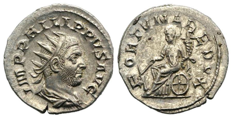 Ancient Coins - Philip I (244-249) AR Antoninianus Rome AD 249