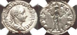 Ancient Coins - Gordian III (AD 238-244). AR denarius (2.58 gm). NGC MS 5/5 - 4/5.