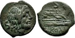 Ancient Coins - Anonymous, Rome, after 211 BC. Æ Semis
