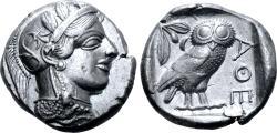 Ancient Coins - Attica, Athens AR Tetradrachm.
