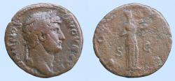 Ancient Coins - Hadrian (117-138), As, Rome, AD 125-128; AE (10,32gr; 26mm)