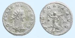 Ancient Coins - Gallienus AD 253-268. Antioch Antoninianus Æ silvered