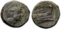 Ancient Coins - Roman Republic Anonymous Semuncia 215-212 BC
