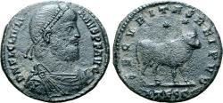 Ancient Coins - Julian II Æ Double Maiorina. Thessalonica, AD 360-363.