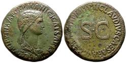 Ancient Coins - Agrippina I (sister-in-law of Claudius I) AD 33. Struck circa AD 42/3. Rome Sestertius Æ