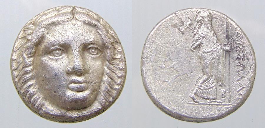 Ancient Coins - SATRAPS of CARIA. Maussolos. Circa 377/6-353/2 BC. AR Tetradrachm