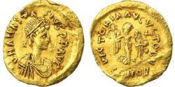 Ancient Coins - Anastasius I AV Tremissis. Constantinople, AD 491-518.