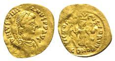 Ancient Coins - Justinian I (527-565). AV Tremissis