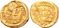 Ancient Coins - Justinian I AV Tremissis.
