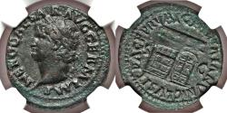 Ancient Coins - Nero (AD 54-68). AE as (28mm, 7h). NGC VF