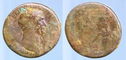 Ancient Coins - Trajan, AD 98-117. AE Sestertius minted at Rome, AD 103-111.
