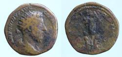 Ancient Coins - Marcus Aurelius, 161-180. Dupondius (Orichalcum, 22 mm, 7.79 g), Rome, 176-177.