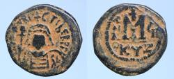 Ancient Coins - Maurice Tiberius Æ 40 Nummi. Cyzicus Dated RY 7 (588/9)