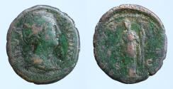 Ancient Coins - DIVA FAUSTINA I (Died 140/1). Sestertius. Rome.