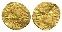 Ancient Coins - Anastasius I (491-518). AV Tremissis (13mm, 1.15g, 6h).