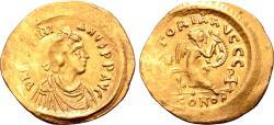 Ancient Coins - Justinian I AV Semissis.
