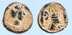 Ancient Coins - Justin I. A.D. 518-527. Pentanummium (12mm, 2.15 g). Antioch mint