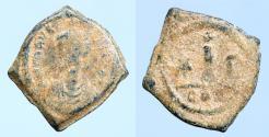 Ancient Coins - Maurice Tiberius. 582-602. Æ Decanummium (16mm, 2,80 g)
