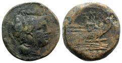 Ancient Coins - Anonymous, Rome, after 211 BC. Æ Triens
