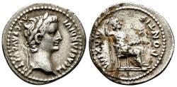 Ancient Coins - Tribute Penny Tiberius AD 14-37. Lugdunum (Lyon) Denarius AR