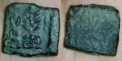 Ancient Coins - INDIA, LOCAL TAXILA: Hill and tree type, AE,