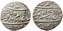 World Coins - BENGAL PRESIDENCY: AR RUPEE, (11.4G, 19MM), IN THE NAME OF SHAH ALAM II, BANARAS MINT,